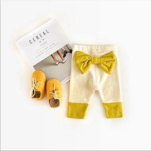 Babi Girl Ribbon Pants - Beige